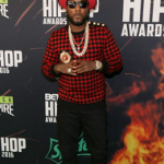 Celebs Style: Jeezy And Gucci Mane Spotted In A Balmain checked Branded Wool Knit Sweater