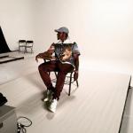 Pusha T Wears A Prada Impossible True Love Camp-Collar Printed Cotton Shirt & Burberry Brit Slim-Leg Cotton Chino Trousers