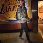 "NBA Style: Brandon Ingram Wears A Supreme Box Logo Camo Crewneck & Adidas Yeezy Boost 750 ""Chocolate"" Sneakers"