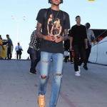 NBA Style: Brandon Ingram Wears A Tupac Tee-Shirt & Pharrell Williams x adidas NMD Human Race Sneakers