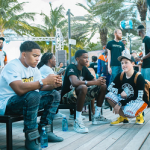 """Justin & Christian Combs Spotted In Maison Margiela Men's """"Future"""" Hi-Top Leather Sneakers"""