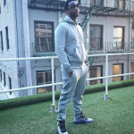 Gucci Mane Rocks A Balenciaga Fleece-Back Cotton Zip-Up Fleece & The Matching Logo Joggers