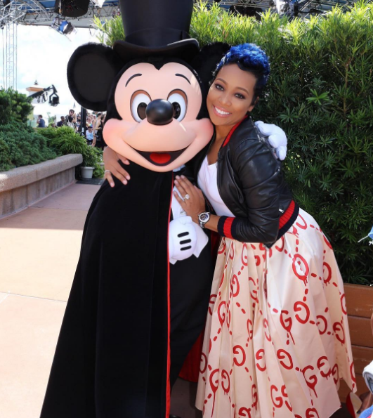 a01c2d28f R&B singer Monica Brown is enjoying a day at Disney's Hollywood Studios and  she's sharing her adventure on Instagram with her followers.