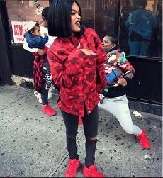 2fdb0447dee Style Trendsetter  Teyana Taylor Wears An A Bathing Ape Color Camo Jacket    Reebok Question Mid Teyana T Sneakers