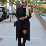 Trina Wears A Pair Of Giuseppe Zanotti Women's Black Eezy Embellished Wedge Trainers & Chloé Women's Carlina Oversized Sunglasses