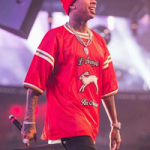 Tyga Performs In A Gucci Mesh Tee-Shirt With Embroideries