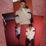 Diggy Simmons Wears A J.W. Anderson Beige Merino Zip Sweater