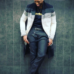 NBA Style: Dwyane Wade Poses In A J.W. Anderson Single Breasted Degrade Coat