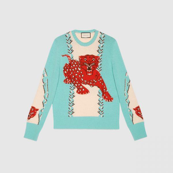 gucci-leopard-intarsia-wool-crew-neck-sweater-1