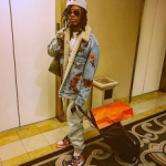 Fetty Wap Spotted In A Gucci Embroidered Denim Jacket With Shearling