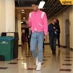 Celebs Style: Jordan Clarkson & Puff Daddy Wear A $2,550 Saint Laurent Classic Teddy Varsity Jacket