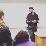 Emmanuel Mudiay Speaks To The Youth In An Off-White C/O Virgil Abloh Pullover Hoodie W/Arrows