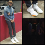 LeBron James Styles In A Dolce & Gabbana Indigo Cherub Shirt & LeBron Soldier 10 x John Elliott Sneakers
