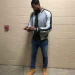 NBA Fashion: Tristan Thompson Sports A $2,995 Lanvin Varsity Bomber Jacket & $190 Timberland 6″ Classic Boots