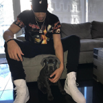 NBA Rookie Ben Simmons In A Givenchy Black Distressed Printed Tee-Shirt
