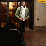Brandon Ingram Arrives Inside Of Quicken Loans Arena In Off-White