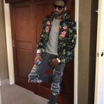 Passion For Fashion: NBA Player John Wall Wears A $1,520 Gucci Tropical Print Nylon Jacket
