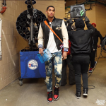 Passion For Fashion: Jordan Clarkson Wears A $3,750 Gucci Leather And Felt Bomber With Embroideries