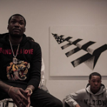 Meek Mill Styles In A Gucci Blind For Love 'Tiger' Sweatshirt