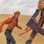 Models Jordan Barrett & Stella Maxwell Front Roberto Cavalli S/S 2017 Campaign
