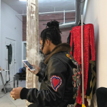 Swae Lee Wears A $6,985 Gucci Detachable Mink Fur Collar Leather Jacket