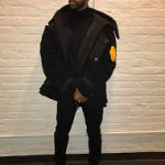 "Big Sean Wears An OFF-WHITE x Moncler Coat From The ""Moncler O"" Collection"