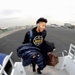 Winter Outerwear: Brandon Ingram's Moncler 'Maya' Lacquered Down Jacket