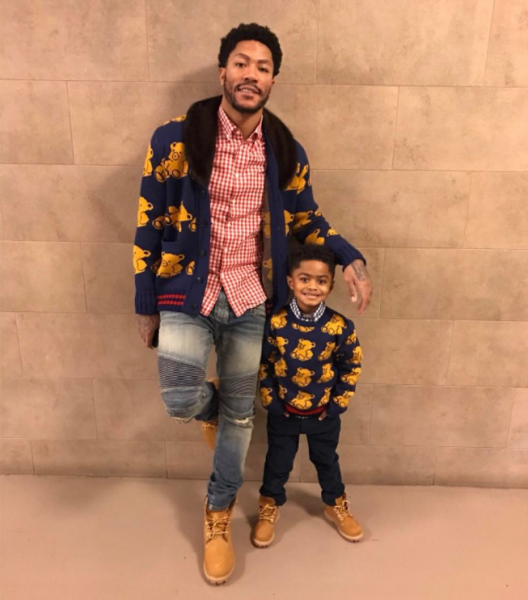 65a687fc NBA player Derrick Rose wore a $2,200 Gucci Wool Bear Cardigan With Mink  Collar, from the luxury house's Fall 2016 Menswear collection.
