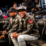 Floyd Mayweather Sat Courtside In A $6,690 Gucci Painted Leather Jacket
