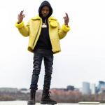 Rapper Jefe Wears A Yeezy Season 3 Shearling Flight Jacket & Military Boots