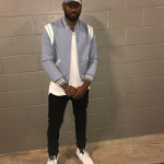 NBA Style: John Wall Wears A Saint Laurent Women's Varsity Jacket