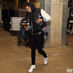 When Did He Wear It The Best? Jordan Clarkson Wears A $3,750 Gucci Leather And Felt Bomber With Embroideries