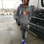 Celebs Style: Rich The Kid & Fabolous Spotted In A FENDI Monster Wool Hooded Sweater