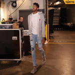 NBA Player Brandon Ingram Outfitted In Comme des Garçons & Mike Amiri