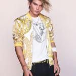 Jordan Barrett For Versace Jeans' Spring/Summer 2017 Campaign