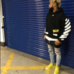 NFL Style: Odell Beckham Jr. Wears An Off-White Black Diagonal Spray Hoodie & Mike Amiri Art Patch Rosebowl Jeans