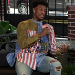 NBA All Star Fashion: Jimmy Butler Styles In A Stella McCartney Playing Cards Print Shirt