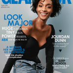 British Fashion Model Jourdan Dunn Covers The April 2017 Issue Of Glamour UK