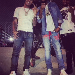 Meek Mill Styles In Off White Rope Belt Jeans & Alexander McQueen Raised-Sole Low Top Leather Trainers