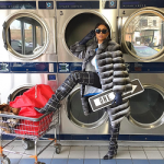 Taraji P. Henson Draped In A Lilly e Violetta Chinchilla Coat & Balenciaga Patterned Thigh-High Boots