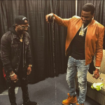 Meek Mill Outfitted In Valente, Saint Laurent & Timberland