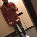 NBA Player Allen Crabbe Wears An Off-White C/O Virgil Abloh Spray Effect Check Print Shirt