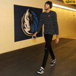NBA Style: Brandon Ingram Wears A Comme des Garçons Play Black Polka Dot Heart Patch Tee-Shirt