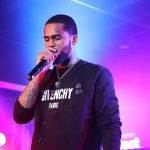 Harlem Rapper Dave East Performs In A Givenchy Distressed Logo Sweatshirt