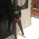 NBA Player John Wall Spotted In A Gucci 'Blind For Love' Tiger Sweater & Ace Watersnake Trimmed Leather Sneakers