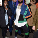 Paris Fashion Week: Odell Beckham Jr. Wears A Balmain Color Block Hoodie Jacket & Sweatpants