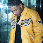 Justin Combs Looks Dope In A Supreme Uptown Studded Leather Varsity Jacket