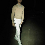 Swae Lee Of Rae Sremmurd Wears Khari Bernard's CHANEL Custom White Denim Jeans