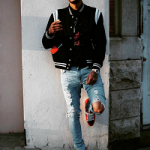 NBA Fashion: Trey Burke Wears A Saint Laurent Black Teddy Bomber Jacket & Saint Laurent 'Court Classic' Hi-Top Sneakers