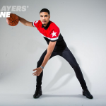 NBA Pre Draft Fashion: Jayson Tatum Posed In A Givenchy Star Motif Paneled Polo Shirt